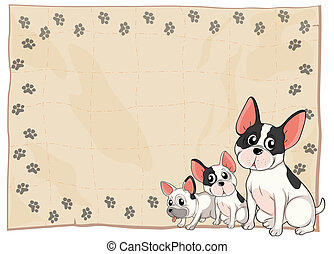 The three puppies - Illustration of the three puppies on a...