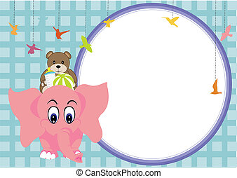 cute elephant baby and soft background