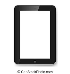 Gadget - Realistic tablet PC with blank screen. Illustration...