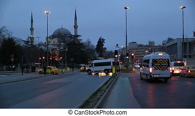 city traffic at istanbul