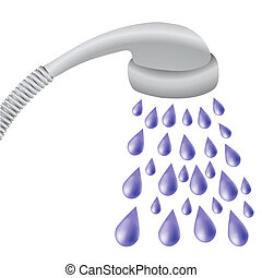 shower - colorful illustration with shower for your design