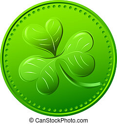 Vector green clover. symbol of St. Patrick's Day