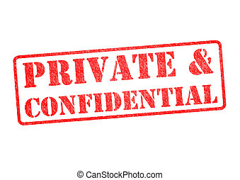 PRIVATE and CONFIDENTIAL Stamp - PRIVATE CONFIDENTIAL rubber...
