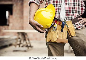 construcción, trabajador