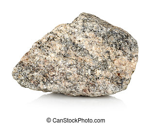 Stone granite - Granite stone isolated on a white background