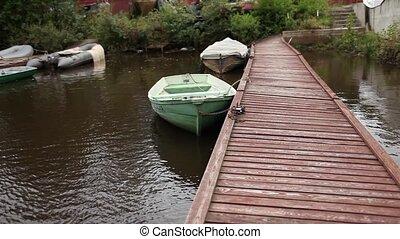 rowboat - boat at berth