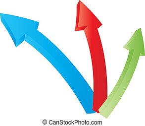 Three bound arrows specifyi