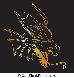 Dragon Tattoo Gold