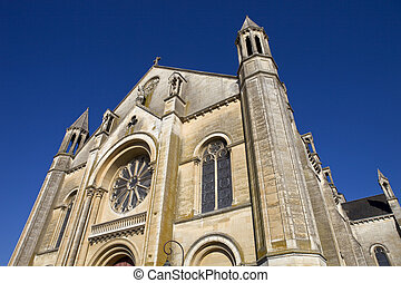 Niort church - Niort ancient gothic church, Aquitaine,...