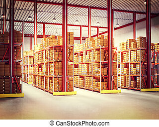 warehouse - fine 3d image of classic warehouse