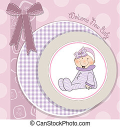 baby girl announcement card