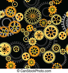 seamless vector background - gears - seamless vector...