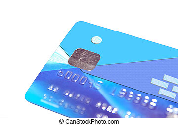 fake bank card 2 - credit card ( totaly remade ) on a white...