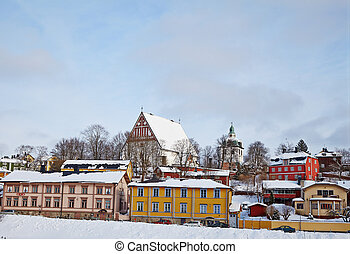 Finland. Old Porvoo in winter