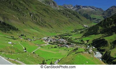 Alps landscape.
