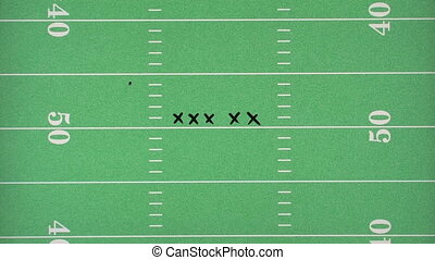 Football Play Over Field - Football play being drawn over a...