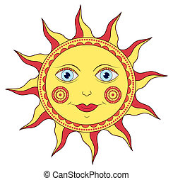 abstract cartoon sun - Vector illustration of abstract...