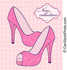 female pink shoes
