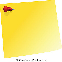 Blank Note - Blank Yellow Sticker