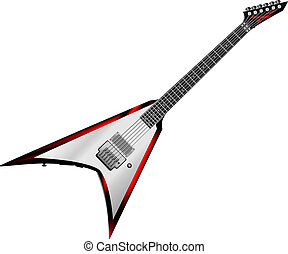 Rock Guitar isolated on white background