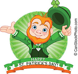 Leprechaun Greeting - St Patricks Day Leprechaun greeting