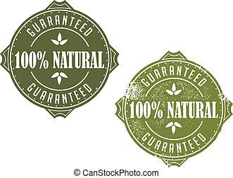 100% Natural Guaranteed Stamp