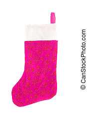 christmas stocking - pink festive christmas stocking with...