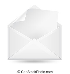 mail envelope with blanc leetter