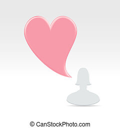 Virtual love confession - MInimalistic valentines day online...