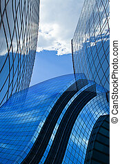Corporate invasion - architectural abstract background