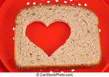 Coração, saudável, pão