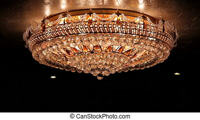 Spinning chandelier - Luxurious and beautiful chandelier...