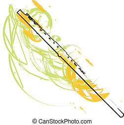 abstract Flute illustration