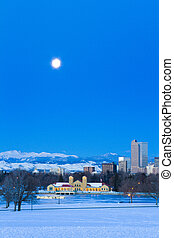 Mile High City of Denver - A view of downtown Denver before...