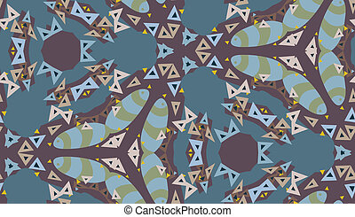 Kaleidescope Triangle Pattern - Seamless kaleidoscope...