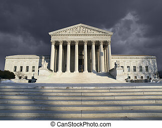 Supreme Court Storm - Dark forbidding troubled storm sky...
