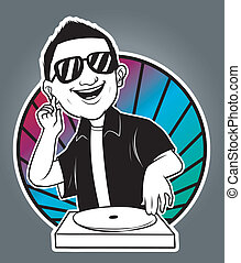man disc jockey