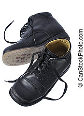 Orthopedic shoes - Childs black custom orthopedic dress...