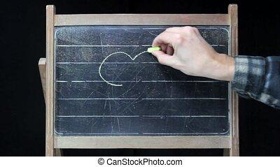 Death Skull chalkboard