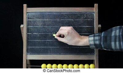 no smoking drawing on chalkboard - no smoking ban , drawing...