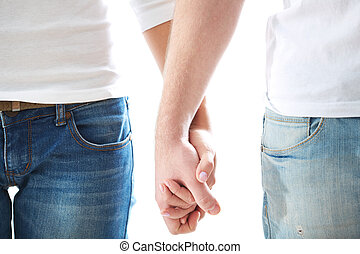 Human hands - Conceptual image of female and male hands...