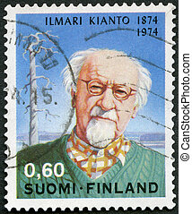 FINLAND - 1974: shows Ilmari Kianto (1874-1970) and Old Pine...