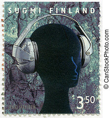 FINLAND - CIRCA 1999: A stamp printed in Finland shows Ergo...