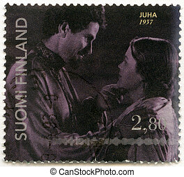 FINLAND - CIRCA 1996: A stamp printed in Finland shows...
