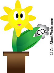 Flowers and carbon dioxide Concepts to reduce global warming...