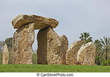 Megalith at park, Israel