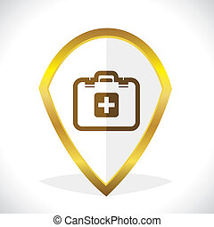 First -Aid Kit Icon Design Stock Vector