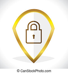Lock Icon Design Stock Vector