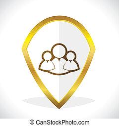Multi-User Chat Icon Design Stock Vector