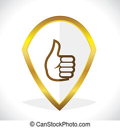 Thumbs-Up  Like Icon Design Stock Vector